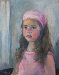 A Portrait of A Little Girl,30x40, oil painting